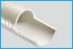 T1710 White PVC Sanitation Suction Hose (Medium Weight)